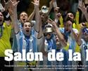 """Jornal destaca título que """"nem Messi tem"""", e Falcão festeja com hermanos"""