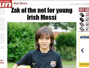 Zak Gilsenan pequeno messi (Foto: Reprodução/The Sun)