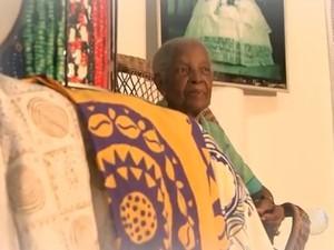 Mãe Santinha morre aos 90 anos em Salvador (Foto: Reprodução/TV Bahia)
