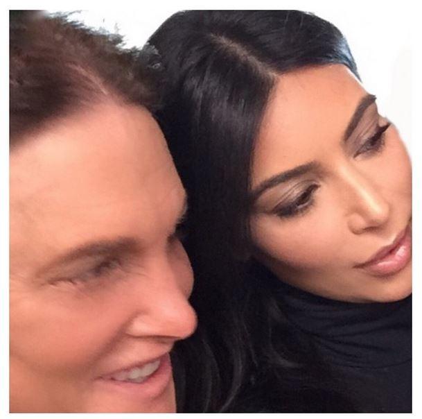 Bruce Jenner e Kim Kardashian (Foto: Reprodução/Instagram)