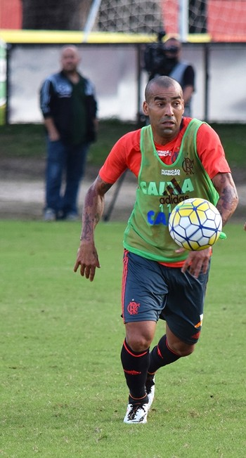 Emerson Sheik e Nixon treino Flamengo (Foto: Gilvan de Souza/Flamengo)