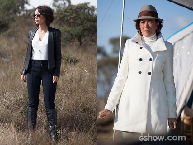 Inverno cheio de estilo! Andreia Horta e Lilia Cabral arrasaram com seus figurinos (Foto: Pedro Curi/TV Globo)
