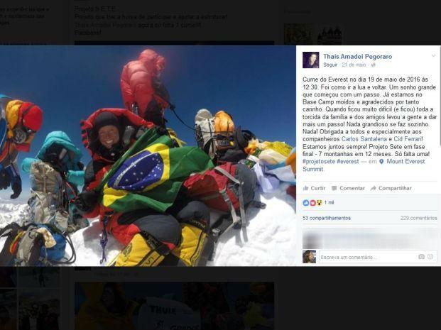 Bauruense postou mensagem em rede social (Foto: Reprodução/Facebook)