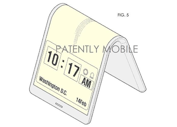Samsung dobrável (Foto: Reprodução/Patent Mobile)