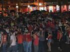 Militantes fazem ato em defesa de Lula no Centro de Rio Branco
