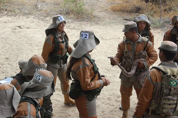 Olha a cobra! (Foto: Exército Brasileiro)