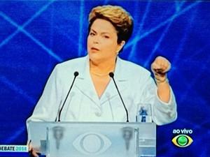Programa de Dilma utilizou imagens do primeiro debate no segundo turno
