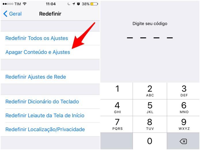 Redefina os Ajustes do iPhone (Foto: Reprodução/Lucas Mendes)