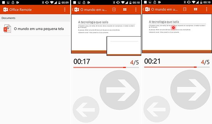Office Remote é um aplicativo capaz de controlar apresentações do PowerPoint pelo Android e WP (Foto: Reprodução/Elson de Souza)