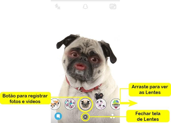 Registre sua foto com as Lentes do Snapchat (Foto: Reprodução/Barbara Mannara