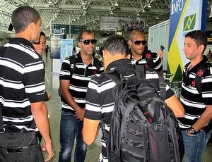 Felipe no embarque do Vasco para a Libertadores (Foto: Gustavo Rotstein / Globoesporte.com)