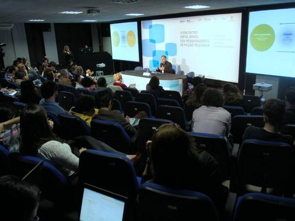 Carlos Scolari participa do IV Encontro Obitel Brasil dos Pesquisadors de Ficção Televisiva, apoiado pelo Globo Universidade em 2013 (Foto: Globo/Paulo Uras)