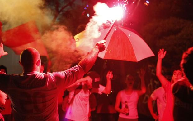 inter ruas de fogo chegada gramado pré-temporada torcida (Foto: Diego Guichard/Globoesporte.com)
