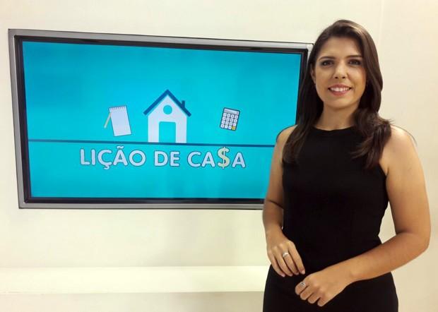 Dalyne Barbosa convoca telespectadores para participar da 3ª edição do Lição de Casa (Foto: TV Clube)