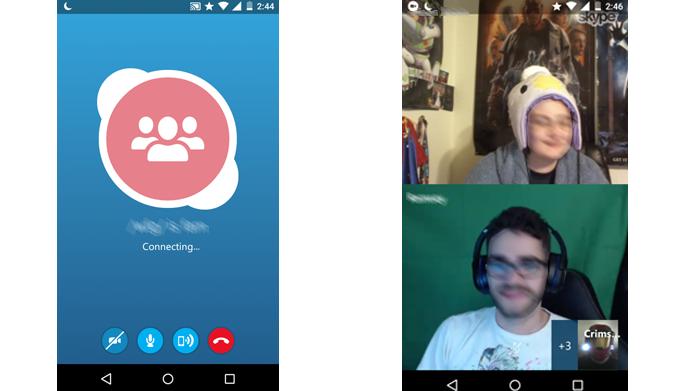 Skype permite chamadas em grupos de até 25 pessoas (Foto: Reprodução/Skype)