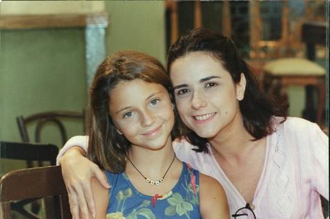 Com Claudia Provedel em 'O amor está no ar', de 1997 (Foto: Arquivo)