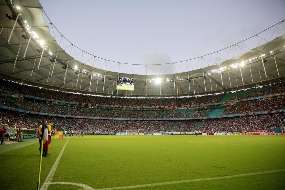 Arena Fonte Nova: governo da Bahia não quis fazer aditivo contratual e preferiu pagar dívida regular de forma 'heterodoxa', disse delator (Foto: Felipe Oliveira / Divulgação / EC Bahia)