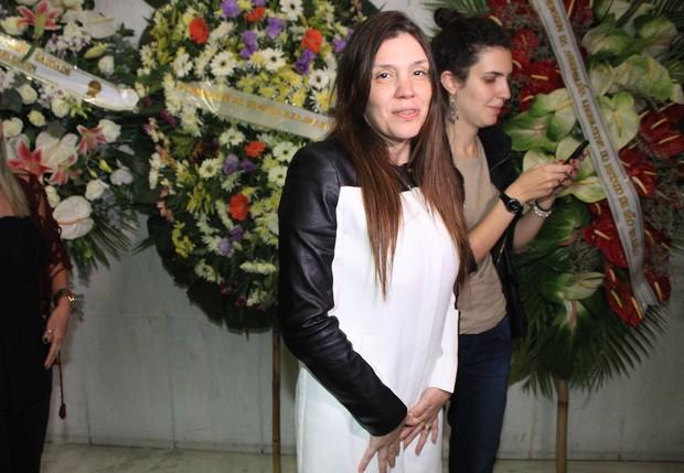 Simony no velório de Jair Rodrigues (Foto: Celso Tavares / EGO)