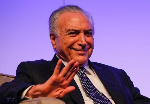 O presidente Michel Temer discursa durante a Brazil Opportunities Conference 2016 (Foto: Beto Barata/PR)