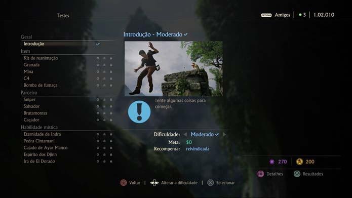 Aprenda novas técnicas nos testes de Uncharted 4 (Foto: Reprodução/Murilo Molina)