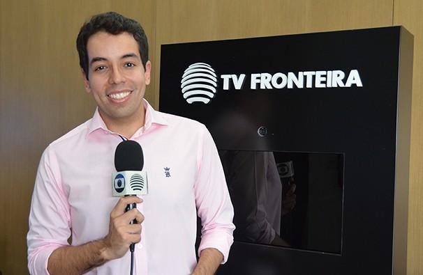 Lelio Ramos é o mais novo integrante da equipe de repórteres da TV Fronteira (Foto: Marketing/TV Fronteira)