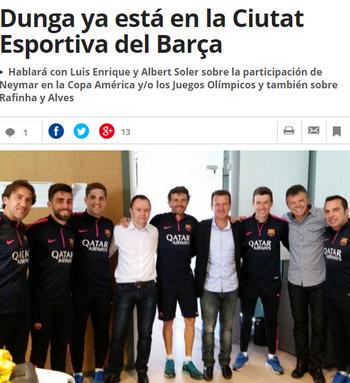 Mundo Deportivo Dunga Gilmar e Luis Enrique (Foto: Reprodução / Mundo Deportivo)