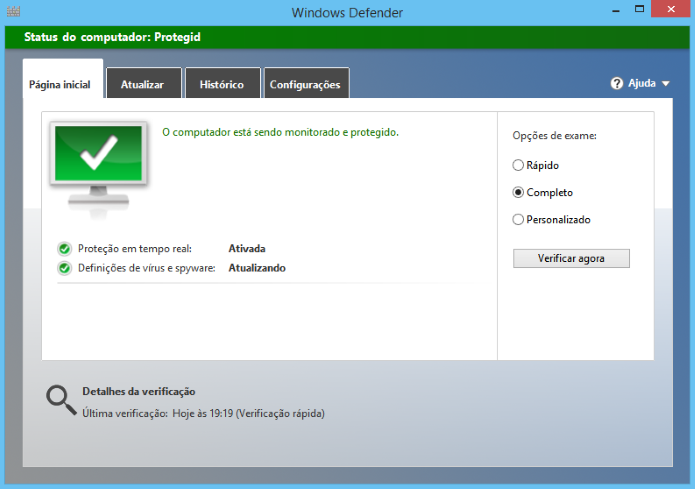 Abra o antivírus e faça uma verificação completa em seu computador (Foto: Reprodução/Helito Bijora)