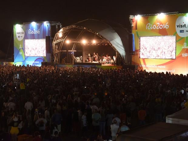 Show noturno no boulevard em Campo durante a Olimpíada (Foto: Alexandre Macieira/Riotur)