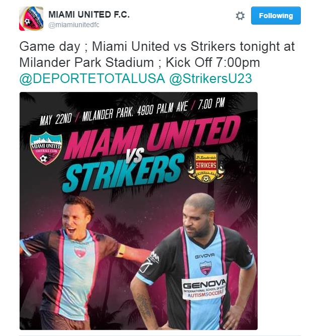 Miami United anuncia Adriano (Foto: Reprodução / Twitter)