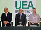 Melo e Amazonino celebram 15 anos de UEA e ano letivo tem início, no AM