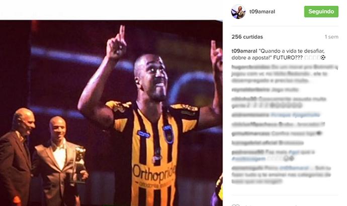 Tiago Amaral fez post misterioso sobre retorno ao Voltaço (Foto: Reprodução/Instagram)