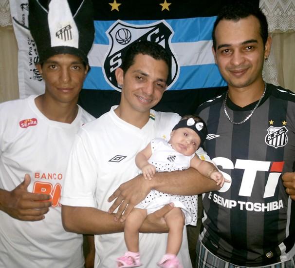 Família Ferreira, torcedores do Santos (Foto: Márcio Rocha/TV Fronteira)