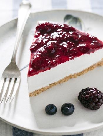 Receita de cheesecake de frutas vermelhas sem glten (Foto: Divulgao / Daniella Duarte)