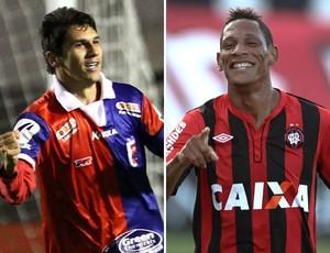Lucio Flávio do Paraná e Marcão do Atlético-PR (Foto: Montagem sobre foto da Agência Estado)
