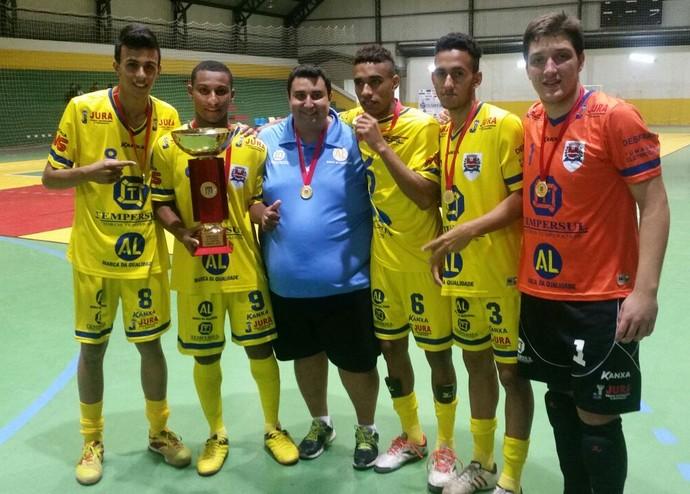 Futsal Dracena, Campeão Paulistão (Foto: Cláudio José / Cedida)