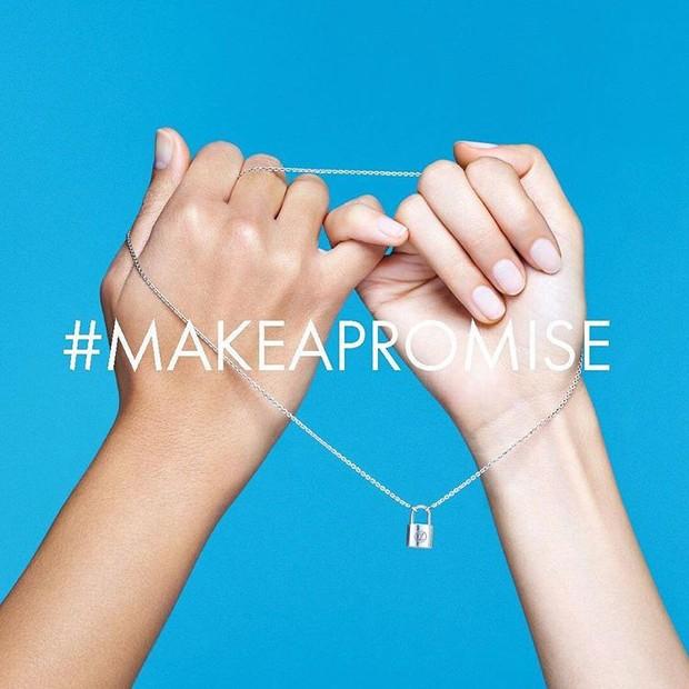 O símbolo do #makeapromise nas redes sociais (Foto: Reprodução/Instagram)