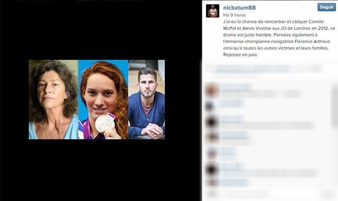 Nicolas Batum post no instagram (Foto: Reprodução / Instagram)