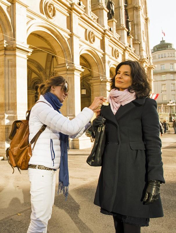 Em Viena, Helena Ranaldi se prepara para viver a personagem Venônica na novela Em Família, de Manoel Carlos (Foto: João Miguel JR./Globo)