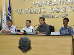 Reunião da CPI do Saae na Câmara de Limeira (Foto: Câmara de Vereadores/Divulgação)