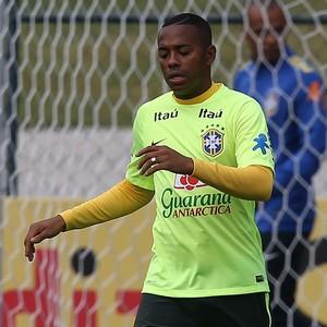 robinho treino seleção (Foto: Fábio Motta/Estadão Conteúdo)