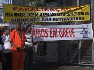 paralisação  portuários bahia (Foto: Reprodução / Tv Bahia)