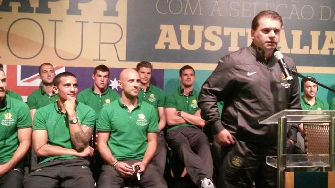 Técnico da Austrália conta com a torcida capixaba na Copa do Mundo (Foto: Richard Pinheiro/GloboEsporte.com)