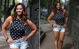 Viviane Araújo usa microshort e exibe coxas torneadas em gravação na rua
