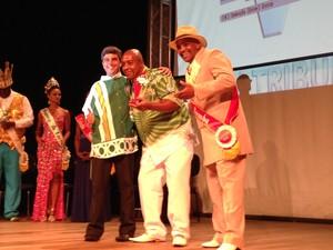 Silvinho, da Padre Paulo recebeu título como melhor intérprete  (Foto: Orion Pires / G1)