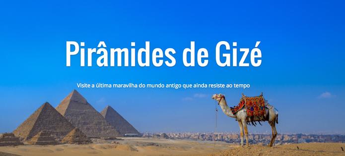 Necrópole e Primâmides de Gizé agora no Google Street View (Foto: Reprodução/Google)