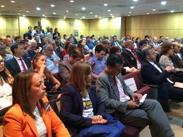 Evento no MPF sobre corrupção (Foto: Kathia Mello/G1)