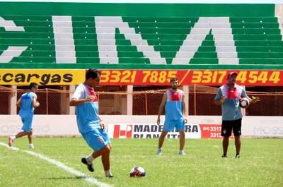 Potiguar de Mossoró treino (Foto: Marcelo Diaz/Divulgação)