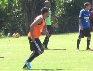 Andre Santos treino do Flamengo (Foto: Richard Souza)