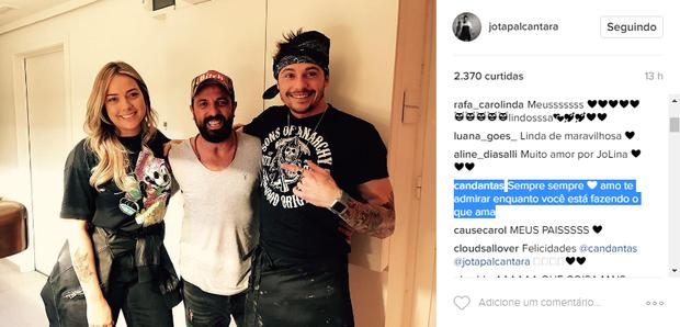 Carol Dantas comenta foto de novo namorado (Foto: Reprodução/Instagram)