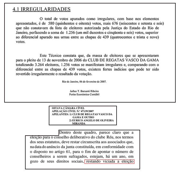 documento vasco irregularidades (Foto: Editoria de Arte)